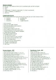 English Worksheet: Syntax and Morphology