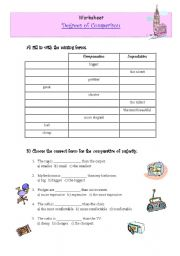English Worksheet: Degree of the adjectives