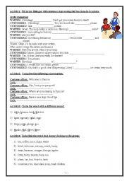 English Worksheets: varied exercises