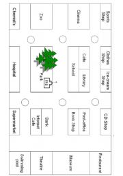 giving directions places around town esl worksheet by daveesl. Black Bedroom Furniture Sets. Home Design Ideas