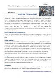 Avoiding Culture Shock