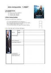 English Worksheet: I, Robot