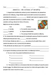 Genetics/Heredity - ESL worksheet by mahogan