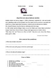 English Worksheet: Belinda Carlisle song plus pre and post raeding activities for adults