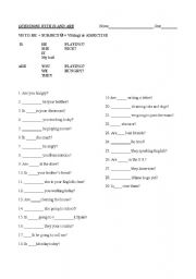 English Worksheets: Questions with is and are