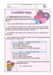 English Worksheet: Question Tags
