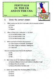 English Worksheet: British culture contest