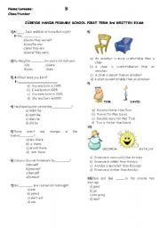 English Worksheets: a worksheet