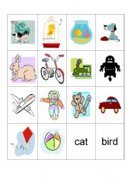 English Worksheets: PETS AND TOYS