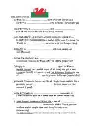 English Worksheets: Welsh Records