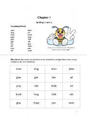 English Worksheets: Spelling Unit 1 Grade 4