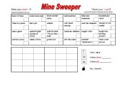 English Worksheets: Mine Sweeper - Have you