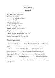 English Worksheets: Frank Sinatra