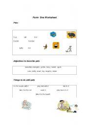 English Worksheets: animas