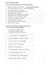 English Worksheet: Be/get used to doing
