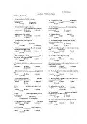 English Worksheets: advanced TOEFL  vocabulary