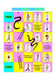 CLOTHES SNAKES AND LADDERS