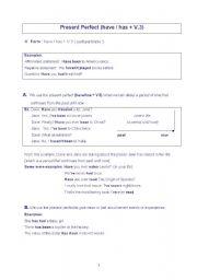 English Worksheets: Presen Perfect
