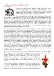 English Worksheets: BAND AID - Part 2