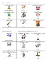 English Worksheets: Groupwork about experiences
