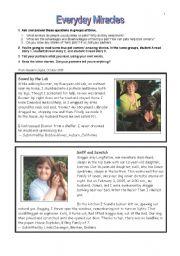 English Worksheets: Everyday Miracles