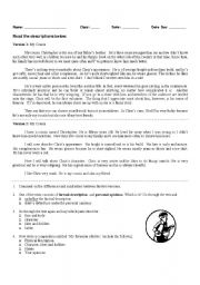 English Worksheets: Writing description