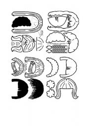 English Worksheets: describing hair
