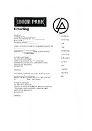 English Worksheet: Linkin Park Crawlin� cloze