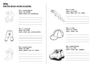 English Worksheets: clothings