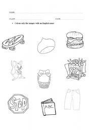 English Worksheets: english words I know