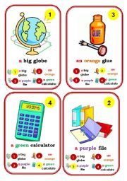 English Worksheet: Go fish cards