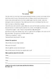 English Worksheets: The cookies