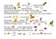 English Worksheets: My little kitten