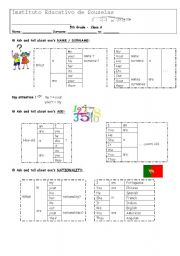 English Worksheets: Formative Worksheet on Personal Identification details