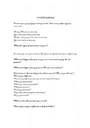 English Worksheets: Community Worksheet