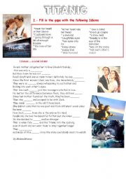 English Worksheets: TITANIC ��idioms of love��