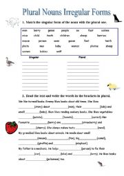 English teaching worksheets: Irregular plurals