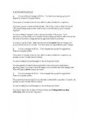 English Worksheet: If & Unless practice - Business scenario