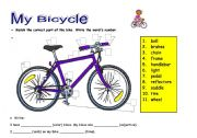 Bike Parts For A Kids Bike my bicycle a fun worksheet to