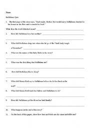 worksheet: Stellaluna Quiz