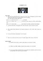 English Worksheets: I, Robot Worksheet
