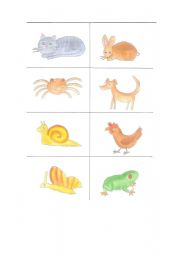 English Worksheets: animal memory 1