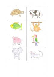 English Worksheets: animal memory 2