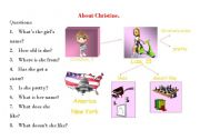 English Worksheets: about Christine