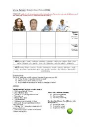 English Worksheets: Movie Activity: Stranger Than Fiction (part 1 out of 3)