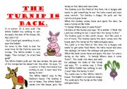 English Worksheets: The Turnip Is Back