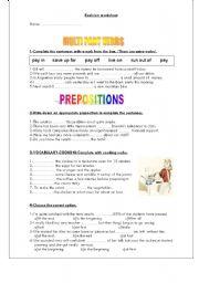 English Worksheets: Revision 1
