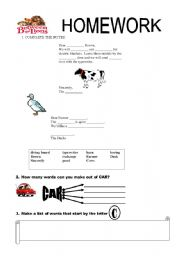 English Worksheets: EXERCISES ABOUT THE EPISODE CLICK CLACK MOO-RED HEN FROM BETWEEN THE LIONS
