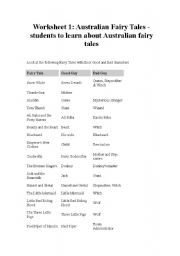 English Worksheets: FAIRYTALES