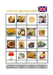 English Worksheet: Typical British Food